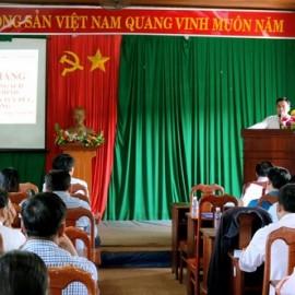 Ông Bùi Viết Cự huyện ủy viên, PCT UBND huyện Tuy Đức, đại diện cho chính quyền địa phương gửi lời cám ơn tới Phân viện
