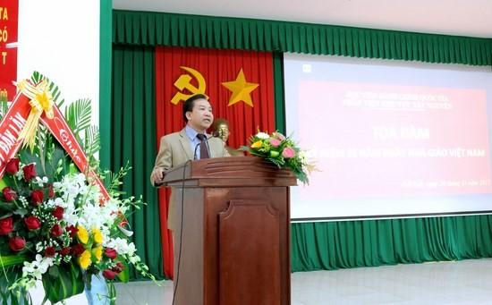 TS. Nguyễn Đăng Quế - Giám đốc Phân viện khu vực Tây Nguyên phát biểu tại buổi lễ