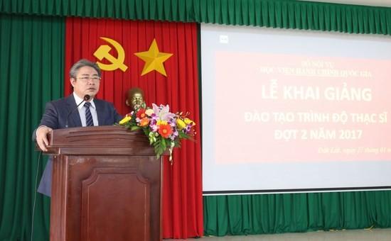 TS. Đặng Xuân Hoan – Giám đốc Học viện phát biểu chúc mừng tại buổi Lễ
