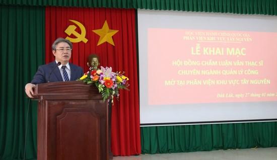 TS. Đặng Xuân Hoan – Giám đốc Học viện phát biểu tại buổi Lễ