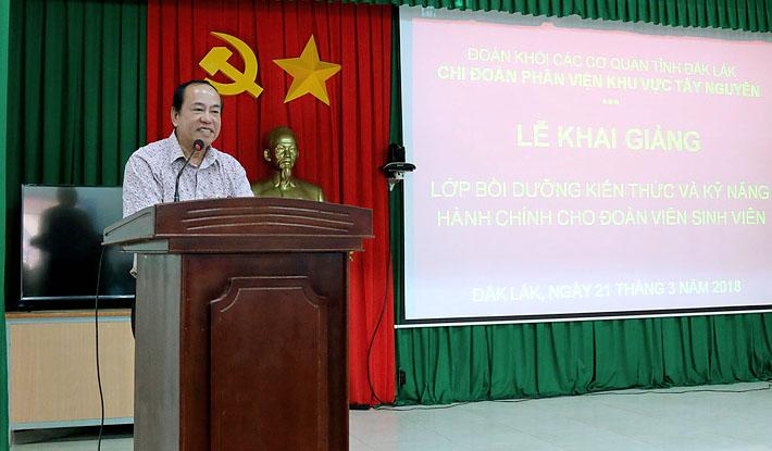 ThS. Nguyễn Anh Phương - Trưởng phòng Hành chính - Tổng hợp phát biểu khai giảng khóa học