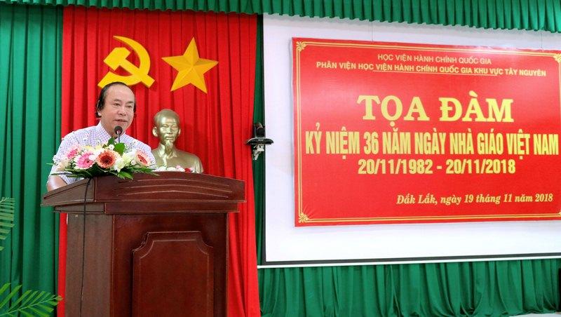 ThS. Nguyễn Anh Phương - Đại diện lãnh đạo Phân viện phát biểu chúc mừng