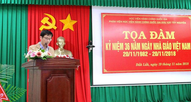 Anh Nguyễn Khắc Kim - Đại diện học viên phát biểu chúc mừng