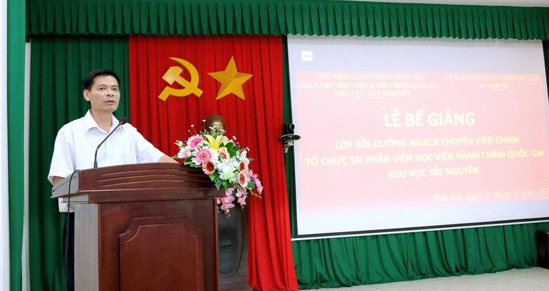 Ông Hoàng Mạnh Hùng – Phó Giám đốc Sở Nội vụ phát biểu tại buổi lễ