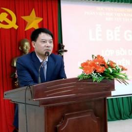 ThS. Tống Đăng Hưng – Phó Trưởng ban, Ban Quản lý bồi dưỡng Học viện Hành chính Quốc gia phát biểu bế giảng lớp học