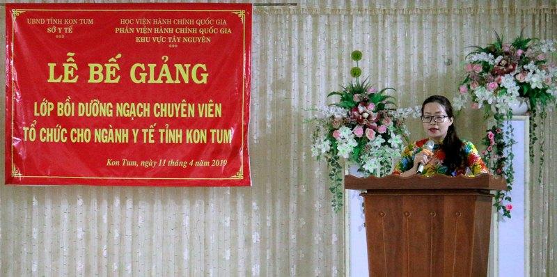 ThS Lê Kim Loan - Chuyên viên Phòng Quản lý Đào tạo và Bồi dưỡng, Phân viện Học viện Hành chính Quốc gia khu vực Tây Nguyên thông qua kết quả học tập và các quyết định liên quan đến lớp học