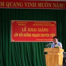 Ông Trần Văn Hai - Trưởng phòng Nội vụ huyện Cư Jút phát biểu tại buổi lễ