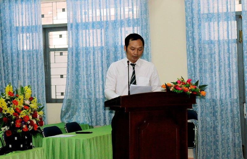Đồng chí Phạm Ngọc Đại thông qua báo cáo tình hình đảng viên, thẩm tra tư cách đại biểu dự Đại hội