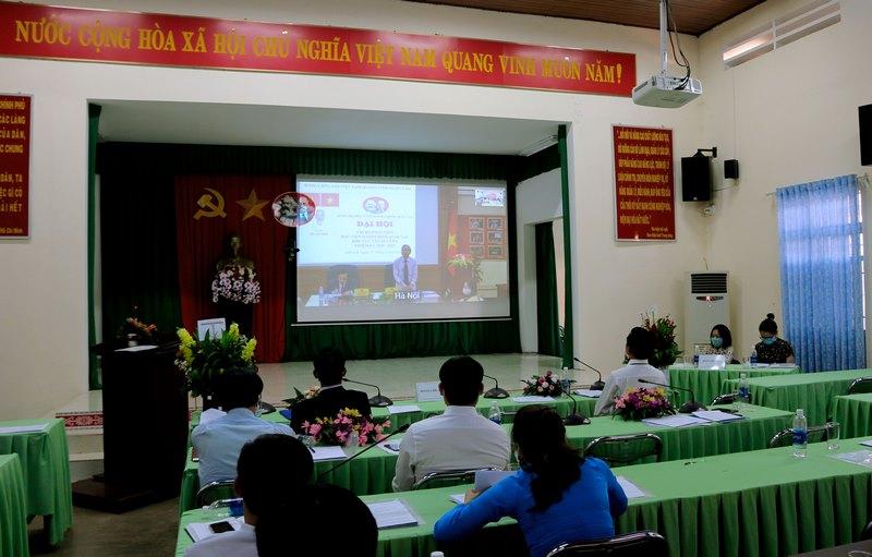 Đồng chí Vũ Thanh Xuân – Phó Bí thư Đảng ủy Học viện Hành chính Quốc gia phát biểu tại Đại hội