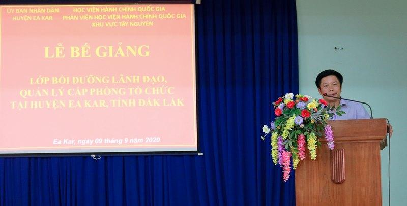 Ông Nguyễn Văn Hà - Chủ tịch UBND huyện Eakar phát biểu tại buổi lễ