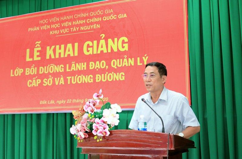 Ông Võ Văn Cảnh - Phó chủ tịch UBND tỉnh Đắk Lắk phát biểu tại buổi lễ