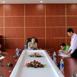 Đồng chí Trần Quang Bình - Chuyên viên phòng Quản trị thông qua quyết định thành lập đội PCCC