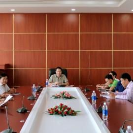 TS. Thiều Huy Thuật - Phó giám đốc Phân viện HVHC Quốc gia khu vực Tây Nguyên phát biếu tại buổi công bố quyết định