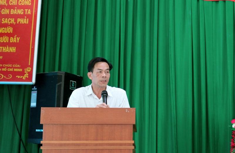 Ông Cao Văn Thọ - Đại diện học viên phát biểu tại buổi lễ