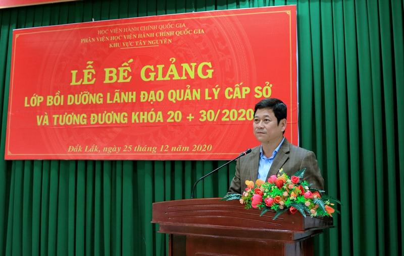 Ông Bạch Văn Mạnh – Giám đốc sở Nội vụ Đắk Lắk phát biểu tại buổi lễ