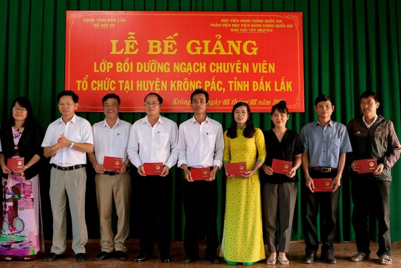 Ông Trần Văn Tuyến, Trưởng Ban Tổ chức huyện Ủy Krông Pắk