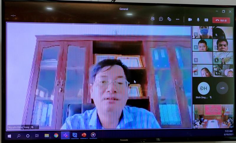 Ông Nguyễn Đặng Trung - Đại diện TTYT huyện Đắk Mil phát biểu