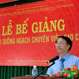 TS. Lê Văn Từ - Trưởng phòng Quản lý đào tạo bồi dưỡng thông qua các Quyết định liên quan đến lớp học