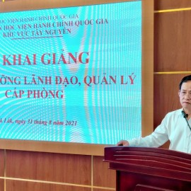 TS. Đỗ Tường Hiệp - Phó Giám đốc Sở GDĐT tỉnh Đắk Lắk phát biểu
