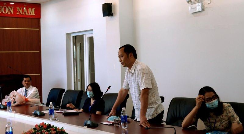 TS. Phạm Ngọc Đại - Trưởng phòng NCKH & HTQT phát biểu tại buổi Lễ