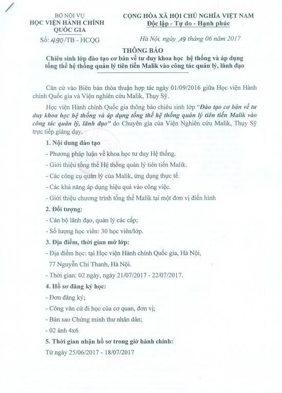 TB CHIÊU SINH TRANG 1 NEW
