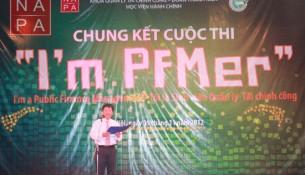 TS. Nguyễn Ngọc Thao – Trưởng khoa Quản lý Tài chính công  phát biểu khai mạc cuộc thi