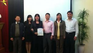 Đoàn giảng viên Khoa Quản lý Tài chính công tham gia khóa tập huấn