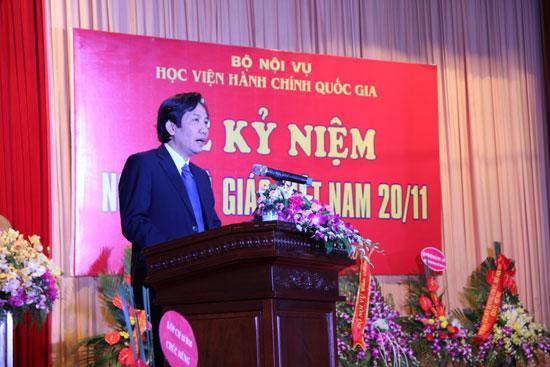 TS. Trần Anh Tuấn phát biểu tại Lễ Kỷ niệm