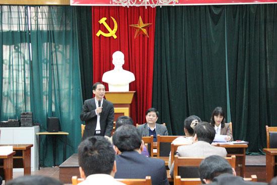 TS. Nguyễn Bá Chiến phát biểu
