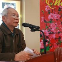GS.TSKH. Vũ Huy Từ - Nguyên Phó Giám đốc, Chủ tịch Hội Cựu giáo chức Học viện phát biểu cảm ơn Ban Giám đốc Học viện