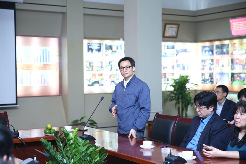 Phó Thủ tướng Vũ Đức Đam phát biểu chỉ đạo công tác tổ chức thi và chấm thi cho các thành viên ban tổ chức kỳ thi và các giám thị coi thi