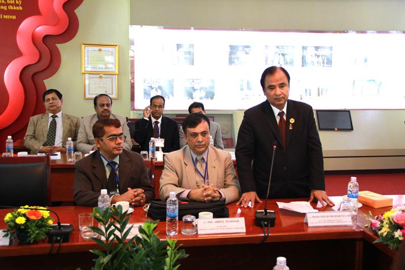 Ngài Mohammad Shahab Ullab, Đại sứ Đặc mệnh toàn quyền Băng-la-đét tại Việt Nam phát biểu