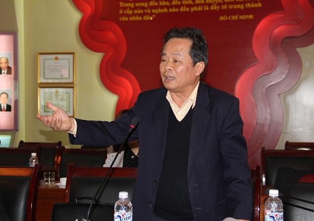 PGS.TS. Phạm Ngọc Trung - nguyên Trưởng Khoa Văn hóa phát triển, Học viện Báo chí và Tuyên truyền trình bày tham luận