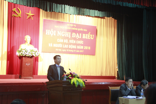 PGS.TS Lương Thanh Cường - Trưởng Ban TTND Báo cáo hoạt động của Ban Thanh tra Nhân dân