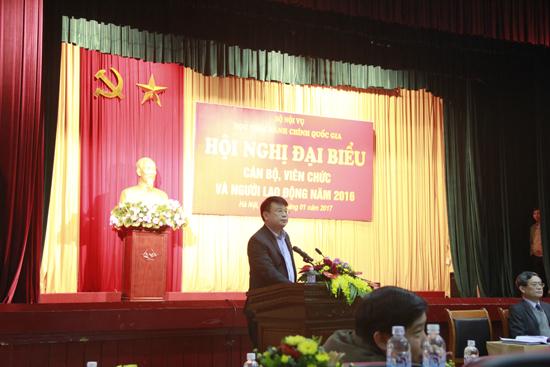 ThS. Bùi Huy Tùng phát biểu khai mạc Hội nghị