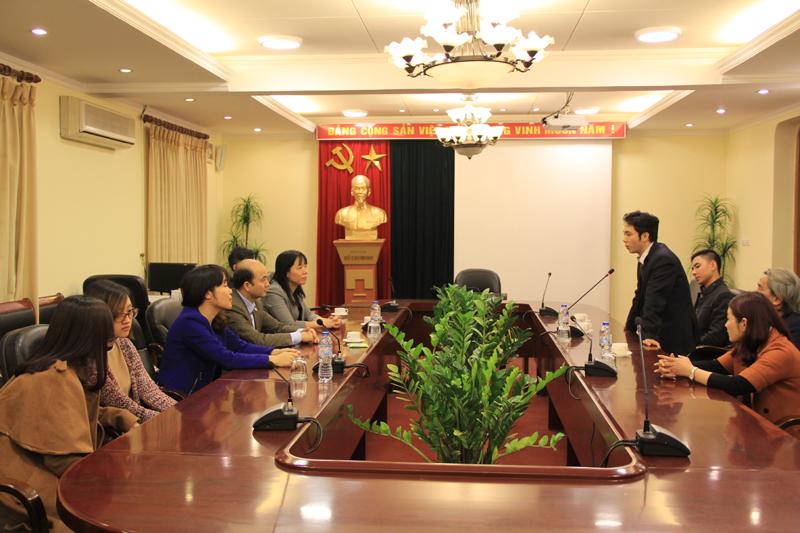 ThS. Phạm Quang Quyền, Quyền Giám đốc Trung tâm Thông tin - Thư viên Đại học Nội vụ phát biểu tại buổi lễ