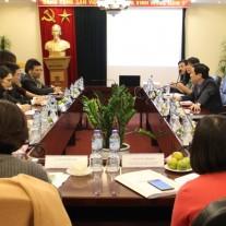 TS. Lê Như Thanh, Phó Giám đốc Thường trực Học viện chủ trì buổi tiếp đoàn