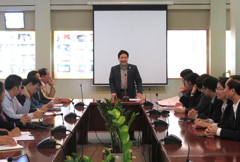 TS. Lê Như Thanh, Phó Giám đốc Thường trực Học viện chủ trì buổi làm việc với đoàn