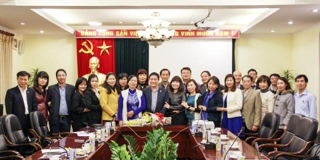 Lãnh đạo Học viện cùng các đại biểu tham dự buổi gặp mặt