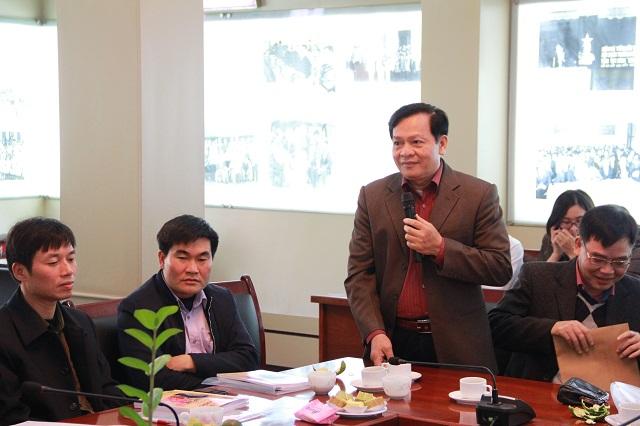 TS. Hoàng Quang Đạt - Trưởng Khoa Đào tạo, bồi dưỡng công chức và tại chức phát biểu tại Hội nghị