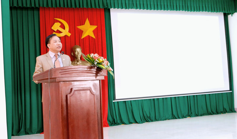 TS. Nguyễn Đăng Quế - Giám đốc Phân viện khu vực Tây Nguyên phát biểu tại khóa học