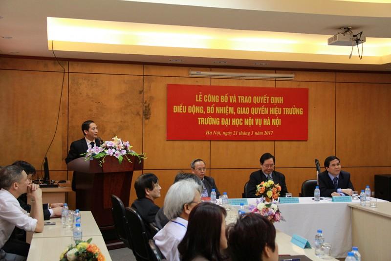 PGS.TS. Nguyễn Bá Chiến phát biểu nhận nhiệm vụ mới
