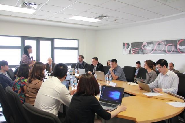 ThS. Phạm Thị Quỳnh Hoa - Trưởng ban Ban Hợp tác Quốc tế phát biểu tại khóa tập huấn