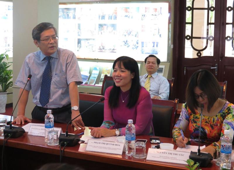 PGS.TS. Lưu Kiếm Thanh, Phó Giám đốc Học viện  phát biểu khai giảng khóa bồi dưỡng