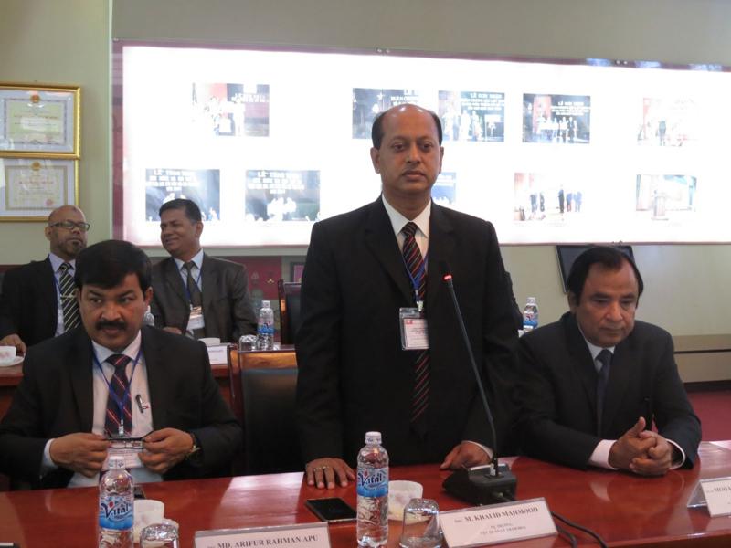 Ông M. Khalid Mahmood, Cục trưởng Cục Quản lý Thảm họa, Trưởng đoàn học viên phát biểu