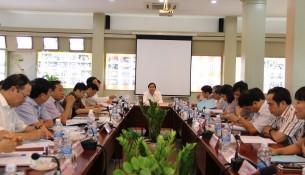 PGS.TS. Triệu Văn Cường - Thứ trưởng Bộ Nội vụ, phụ trách, điều hành Học viện chủ trì Hội nghị