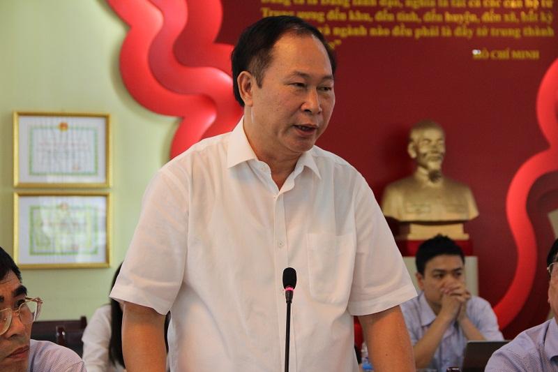 PGS.TS. Vũ Trọng Hách - Quyền Trưởng Khoa QLNN về xã hội phát biểu tại Hội nghị