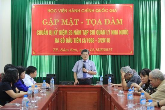 PGS.TS. Lưu Kiếm Thanh phát biểu tại buổi gặp mặt – tọa đàm
