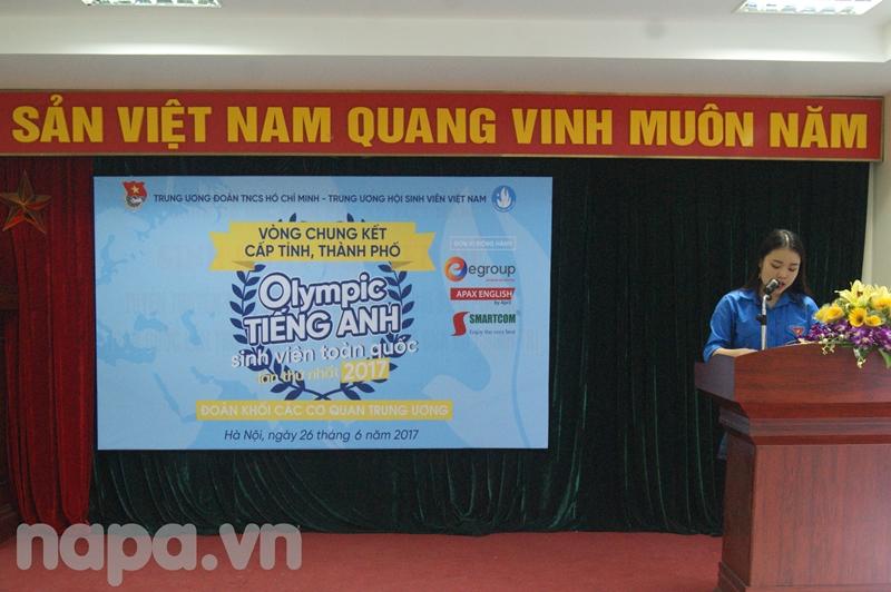 Đại diện đoàn viên phát biểu hưởng ứng cuộc thi