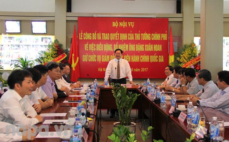 Bộ trưởng Lê Vĩnh Tân phát biểu tại buổi Lễ
